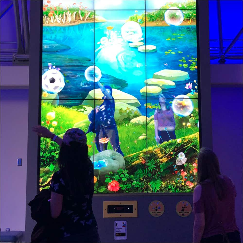 Interactive exhibit from the Strong Museum of Play