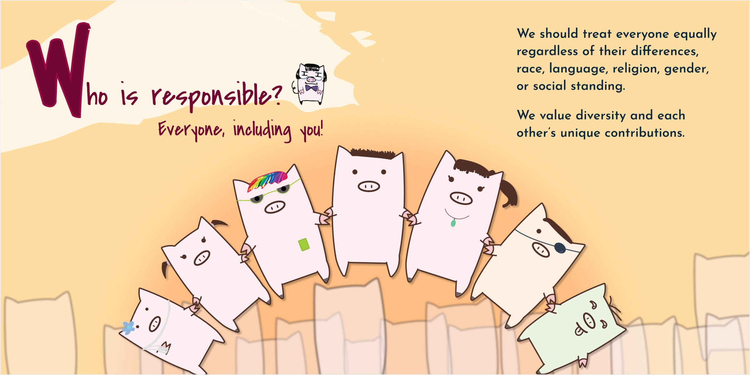 Spread for Who is responsible, that everyone is responsible for making space for others