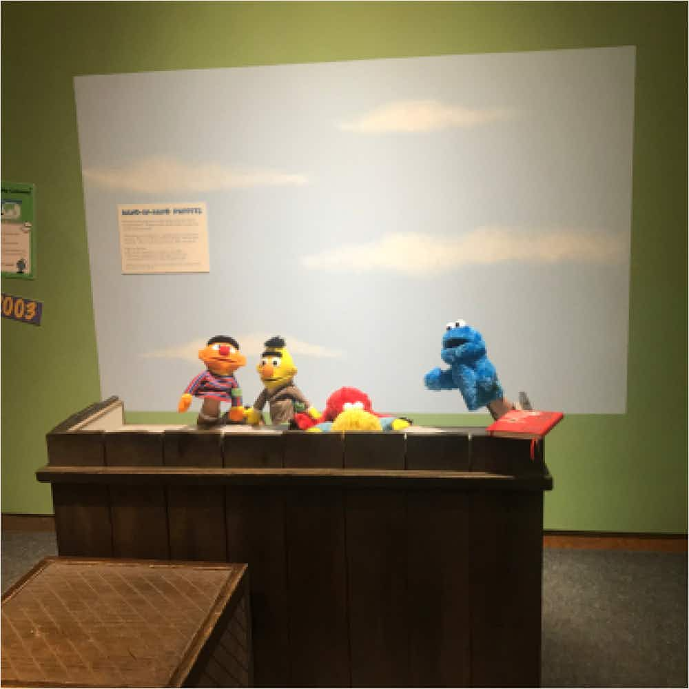 Playing with puppets at the Strong Museum of Play