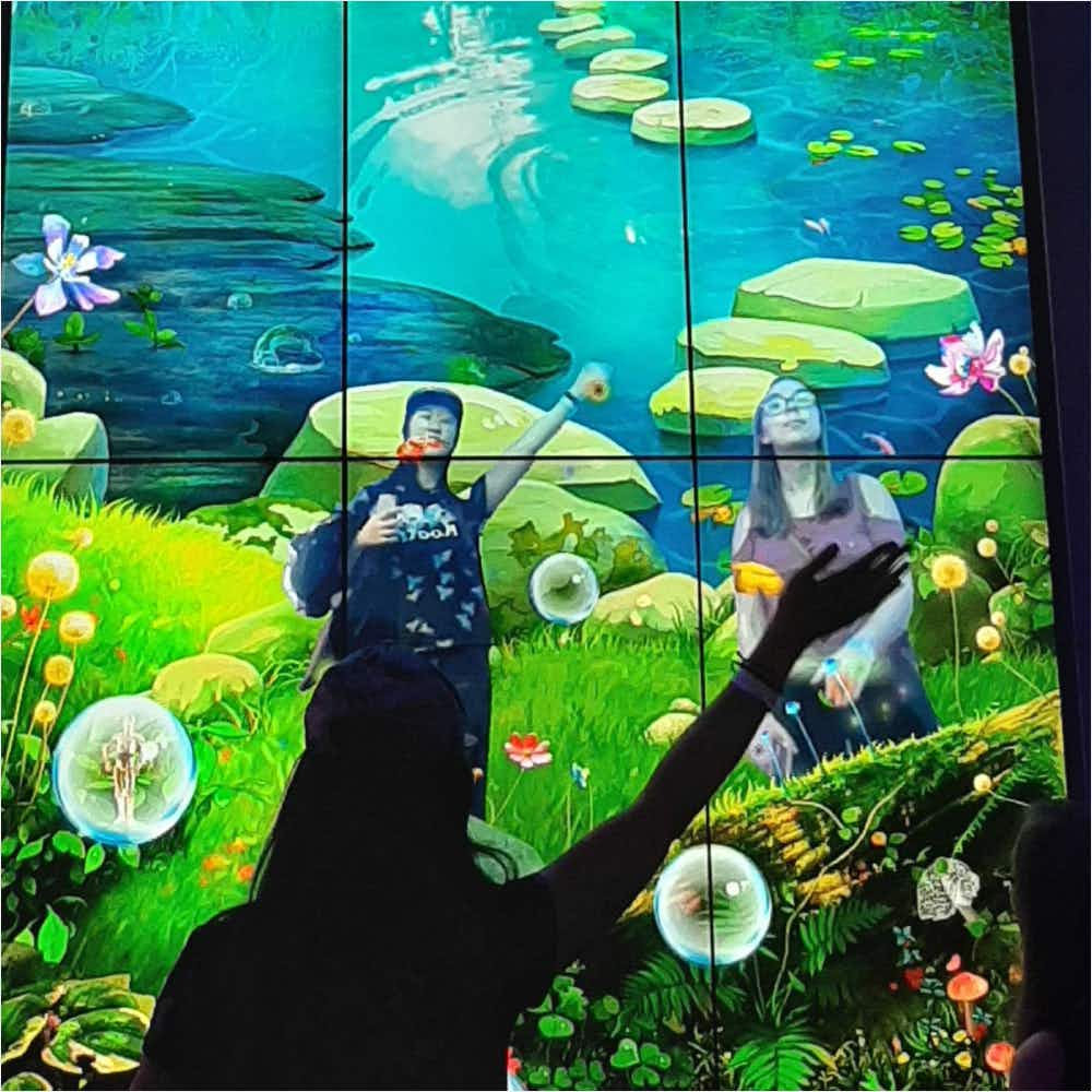 Interactive screen at the Strong Museum of Play