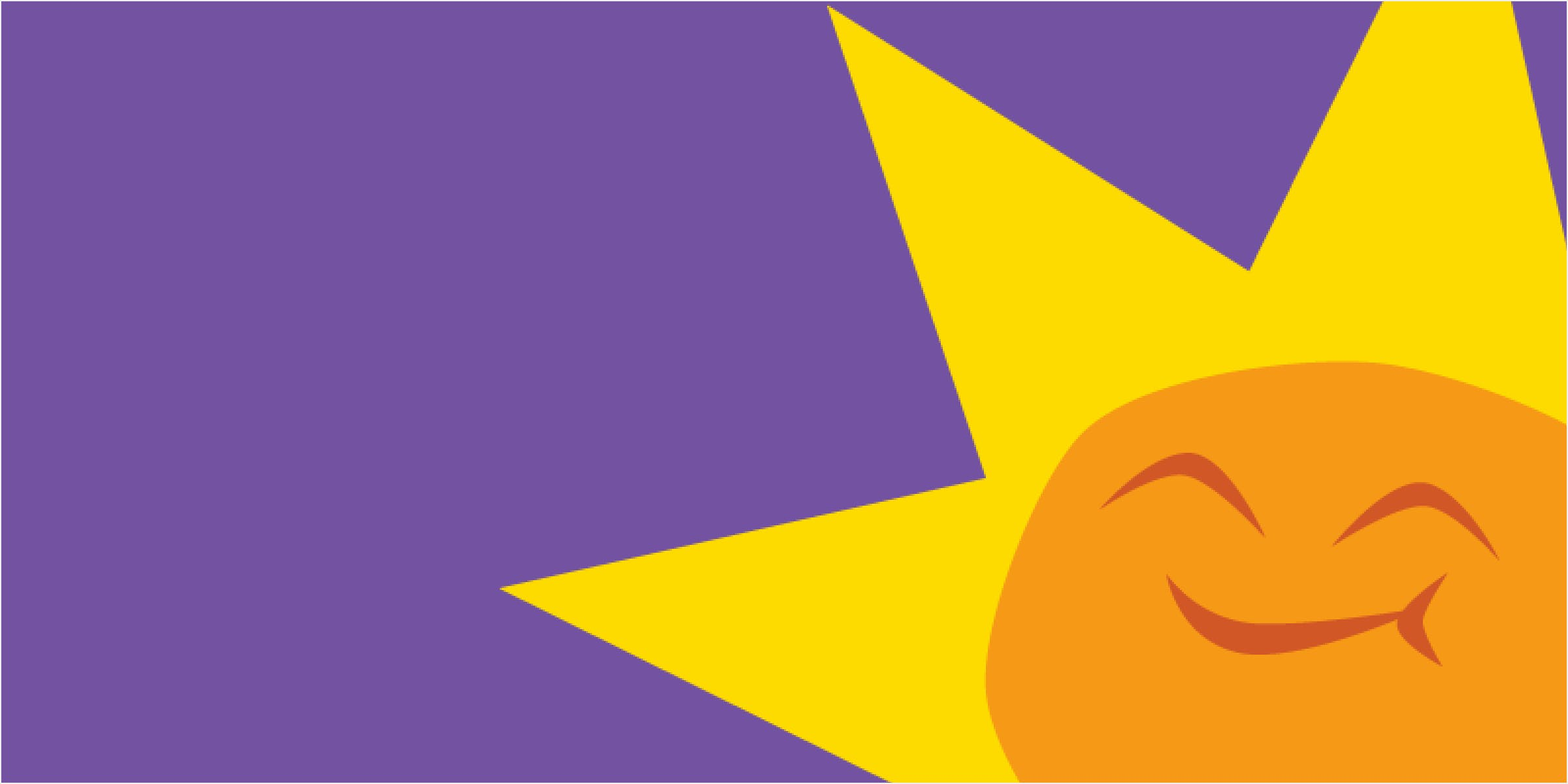 A smiling sun