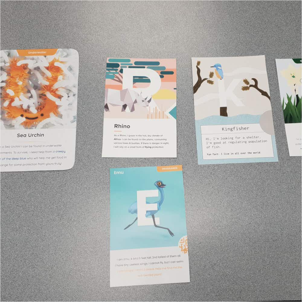 Cards with letter - U, R , K, and E.