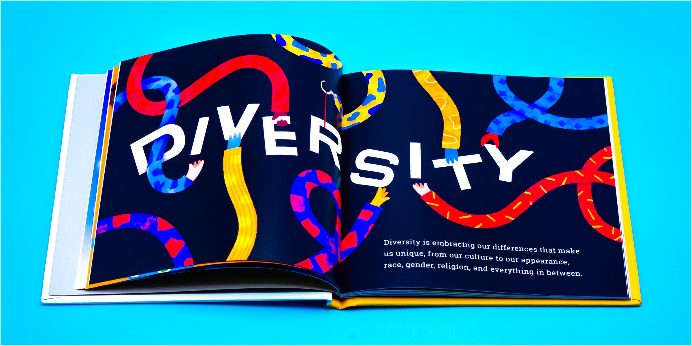 Photo of Diversity Spread from the Inclusion Book