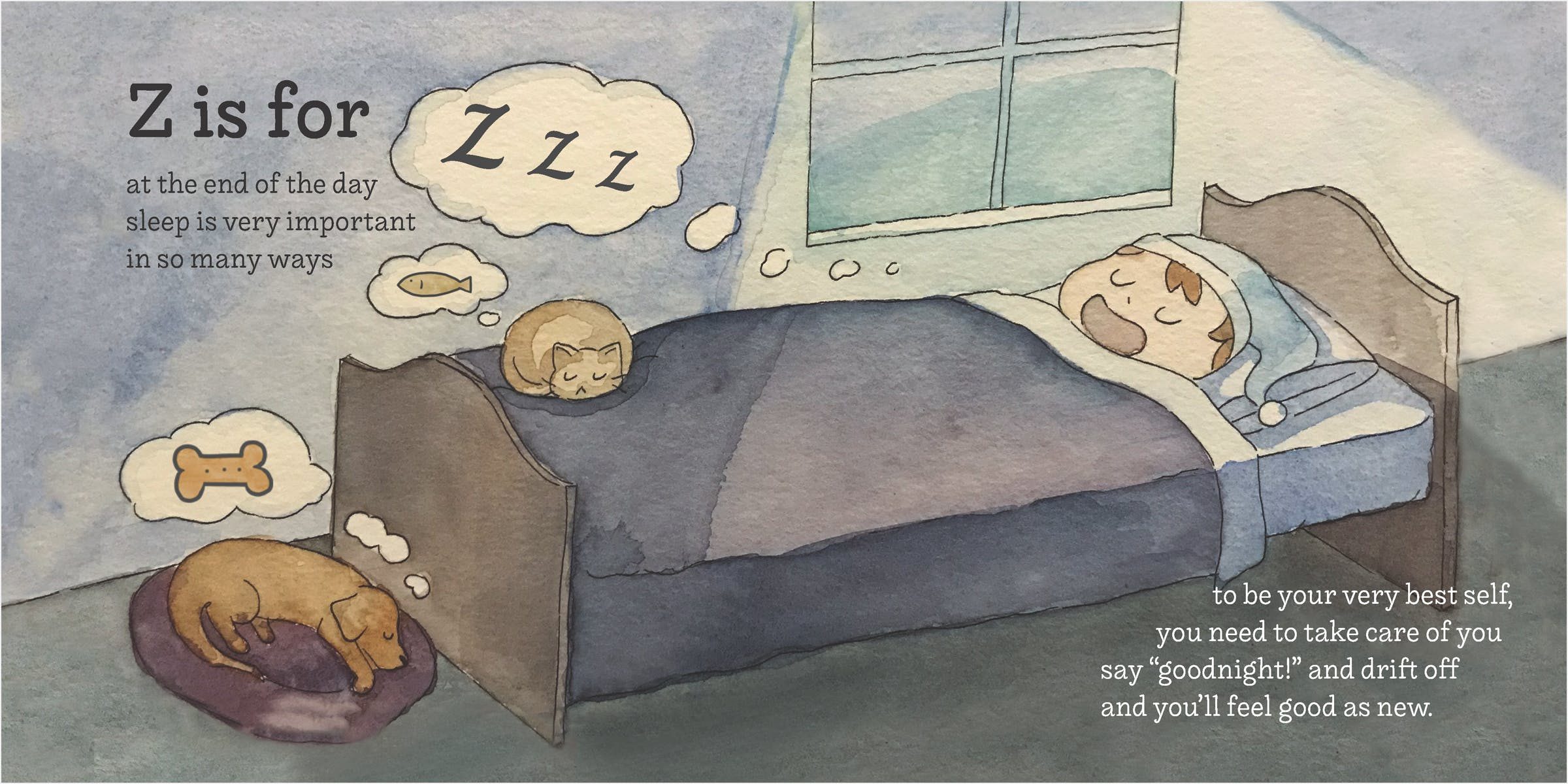 A young boy sleeps in a bed