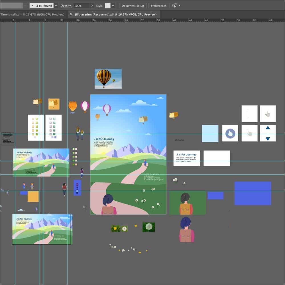 Illustrator vector work on J