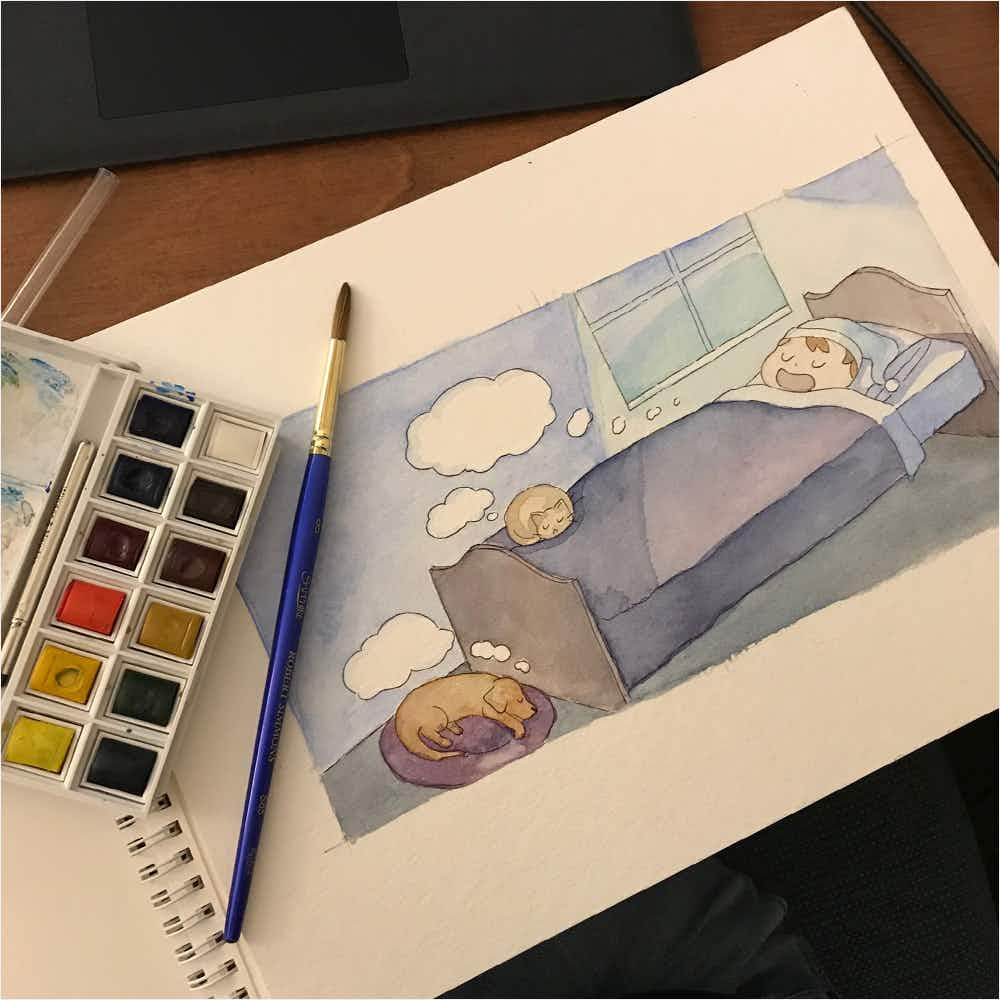 Watercolors for Z page